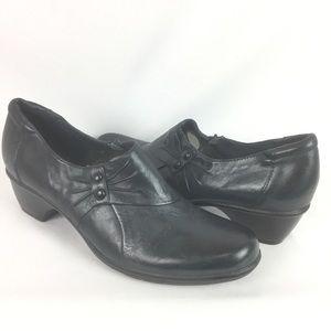 CLARKS | side zip shoes sz 12